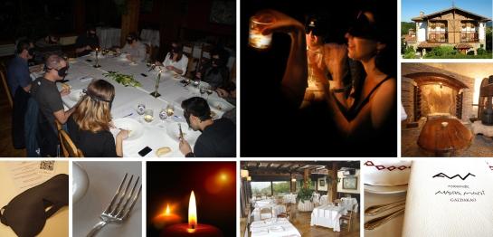 Cena a ciegas. Restaurante Andra Mari, Galdakao.