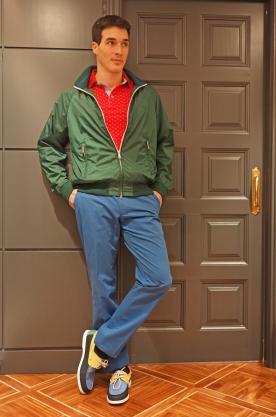 Derby Gardeazabal (pantalón Barbour, chaqueta Gant, polo y naúticos Hackett)