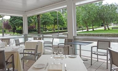 Terraza del Restaurante Aizian Bilbao