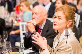 Sir Norman Foster con Elena Ochoa